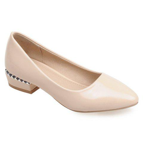 Outfit Simple Patent Leather and Pointed Toe Design Flat Shoes For Women