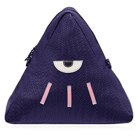 Unique Cute PU Leather and Triangle Design Backpack For Women