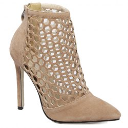 Fashion Hollow Out and Pointed Toe Design Pumps For Women