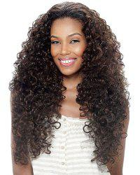 Shaggy Afro Curly Heat Resistant Fiber Trendy Dark Brown Long Wig For Women