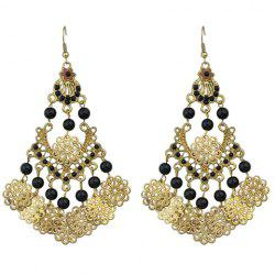 Pair of Retro Floral Hollow Out Beads Earrings