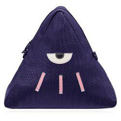 Cute PU Leather and Triangle Design Backpack For Women
