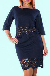 Plus Size Bodycon Two Piece Dress