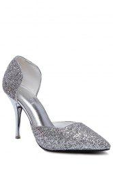 Party Sequins and Two-Piece Design Pumps For Women