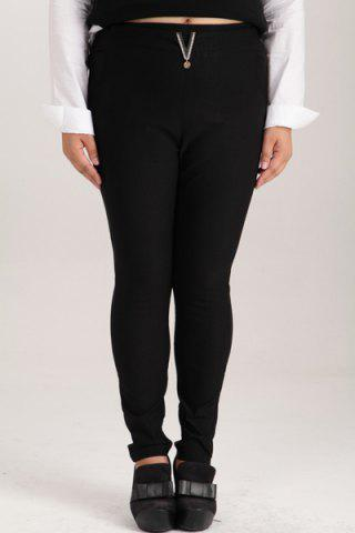 Fashion Fashionable High-Waisted Plus Size Pants For Women