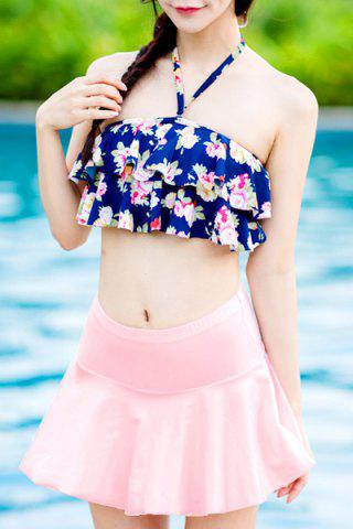 Store Flounce Floral Skirted Tankini Bathing Suit
