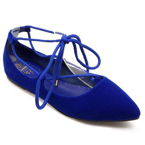 Best Sweet Pointed Toe and Tie Up Design Flat Shoes For Women
