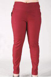 Fashionable High-Waisted Stretchy Plus Size Pants For Women -