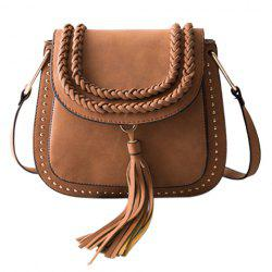 Trendy Tassels and Weaving Design Crossbody Bag For Women -