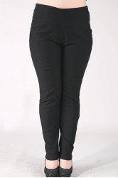 Fashionable High-Waisted Stretchy Plus Size Pants For Women