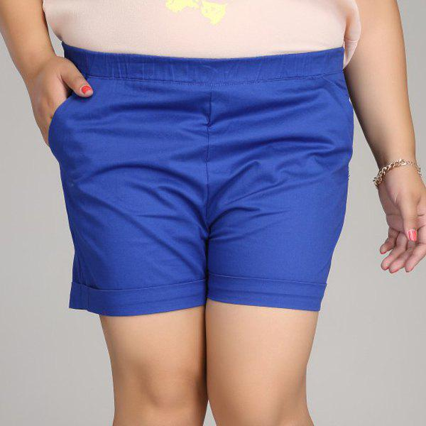 Outfits Casual Solid Color Plus Size Shorts For Women