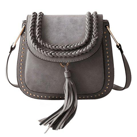 Online Trendy Tassels and Weaving Design Crossbody Bag For Women
