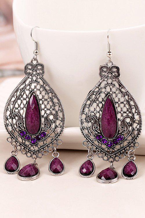 Shops Pair of Vintage Bohemia Faux Crystal Water Drop Earrings
