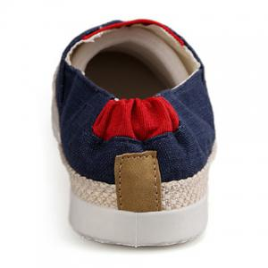 Color Block  Slip On Canvas Sneakers -