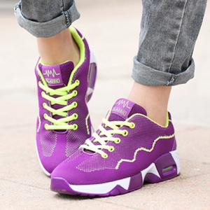 Fashionable Mesh and Color Block Design Athletic Shoes For Women -