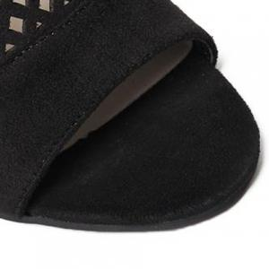 Simple Hollow Out and Suede Design Sandals For Women -