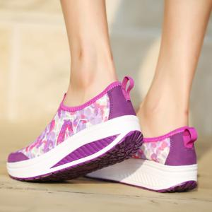 Casual Slip-On and Printed Design Sneakers For Women -