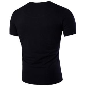 Slim Fit V-Neck Short Sleeve T-Shirt -