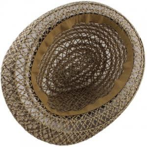 Hollow Out Crochet Straw Hat - COFFEE