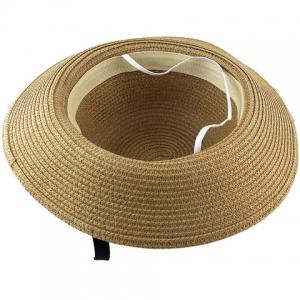 Fashionable Bowknot Embellished Solid Color Straw Hat For Women -