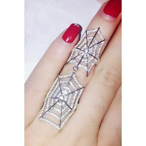 Exquisite Rhinestoned Cobweb Shape Ring For Women -