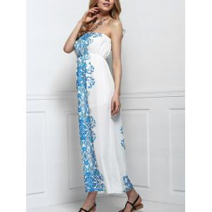 Chiffon Bandeau Floral Maxi Dress