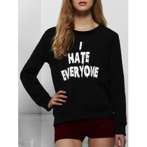 Casual Letter Printed Pullover Sweatshirt For Women