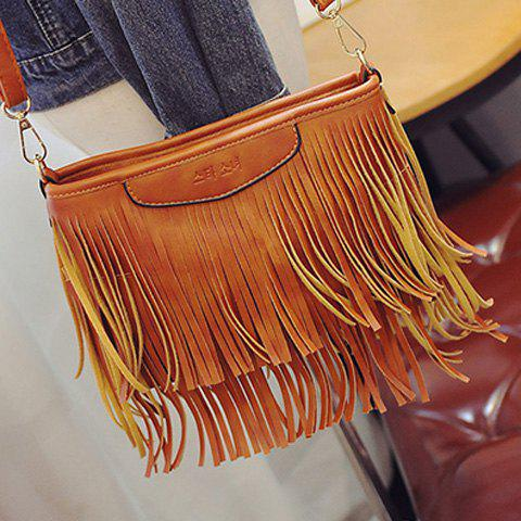 Outfit Stylish Metal and Fringe Design Crossbody Bag For Women -   Mobile