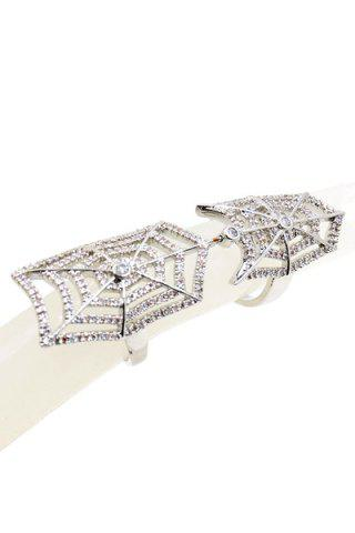 Store Exquisite Rhinestoned Cobweb Shape Ring For Women
