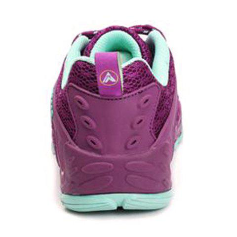 Unique Casual Splicing and Lace-Up Design Sneakers For Women - 35 PURPLE Mobile