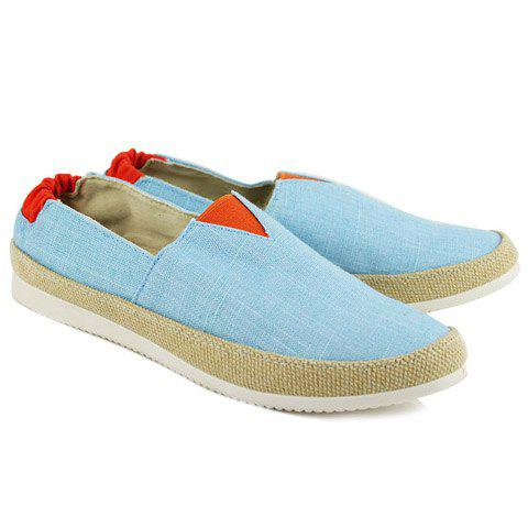 Cheap Color Block  Slip On Canvas Sneakers