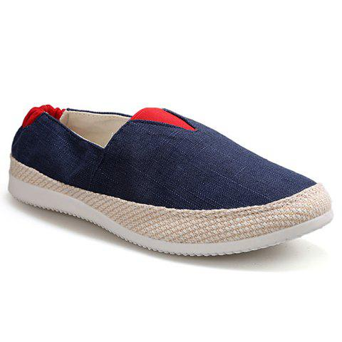 Fashion Color Block  Slip On Canvas Sneakers
