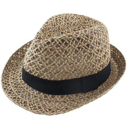 Affordable Hollow Out Crochet Straw Hat - COFFEE  Mobile