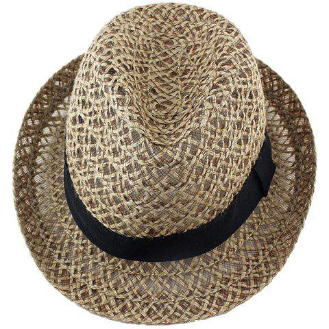 Latest Hollow Out Crochet Straw Hat - COFFEE  Mobile