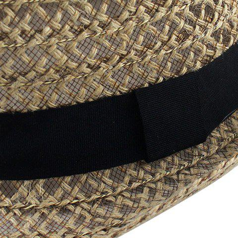 Store Hollow Out Crochet Straw Hat - COFFEE  Mobile