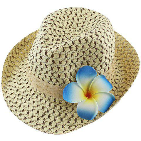 Latest Fashionable Hollow Out Floral Embellished Straw Hat For Women