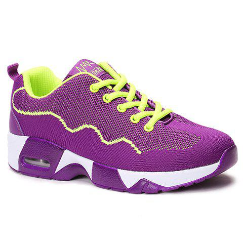 Fancy Fashionable Mesh and Color Block Design Athletic Shoes For Women