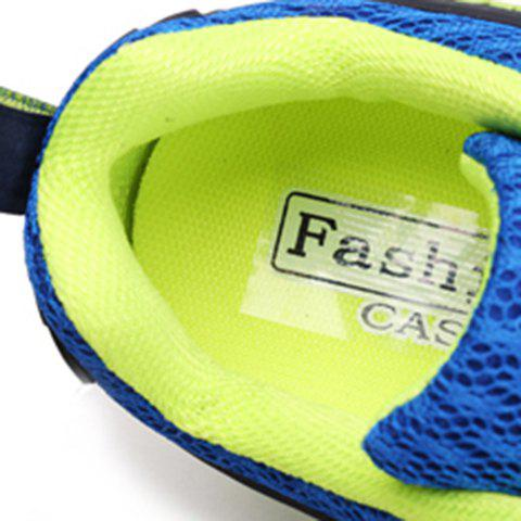Online Casual Splicing and Lace-Up Design Sneakers For Men - 40 SAPPHIRE BLUE Mobile