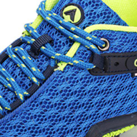 Discount Casual Splicing and Lace-Up Design Sneakers For Men - 42 SAPPHIRE BLUE Mobile