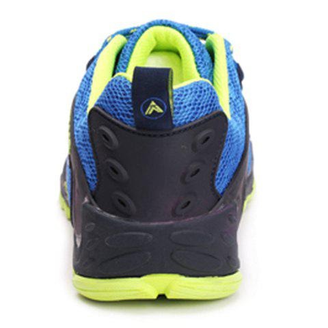 Discount Casual Splicing and Lace-Up Design Sneakers For Men - 44 SAPPHIRE BLUE Mobile