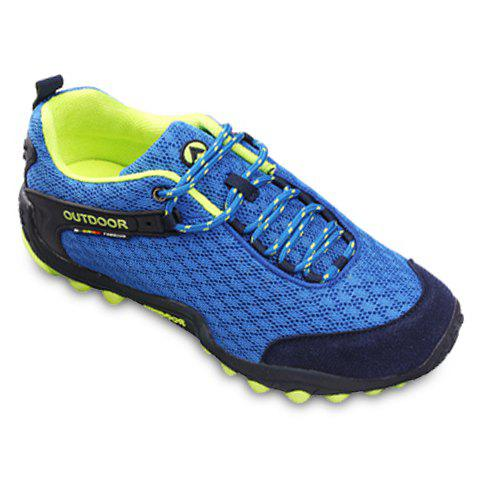 Shop Casual Splicing and Lace-Up Design Sneakers For Men - 44 SAPPHIRE BLUE Mobile