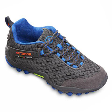 Outfits Casual Splicing and Lace-Up Design Sneakers For Men - 42 DEEP GRAY Mobile