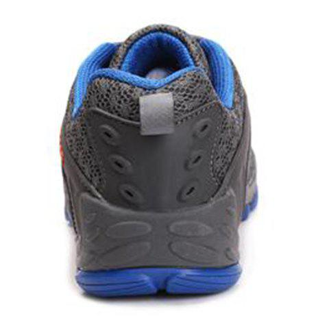 Trendy Casual Splicing and Lace-Up Design Sneakers For Men - 42 DEEP GRAY Mobile