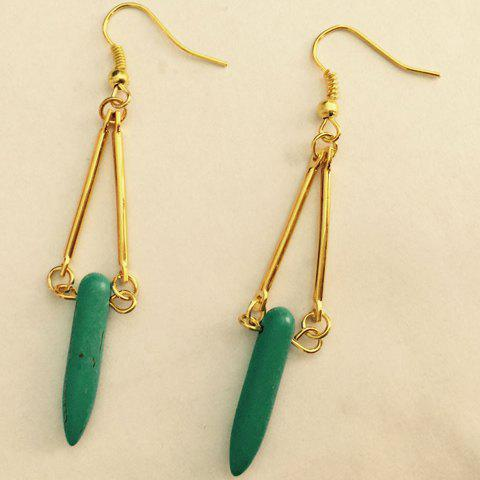 Fashion Faux Turquoise Bullet Shape Earrings