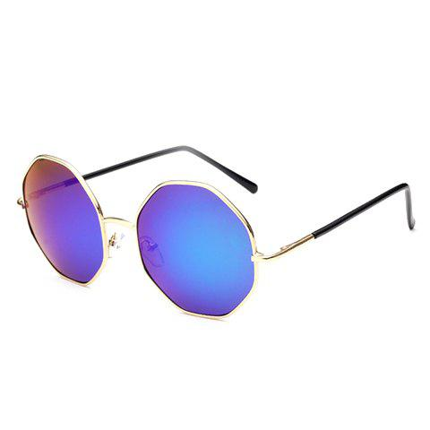 Outfits Chic Golden Polygonal Frame Sunglasses For Women