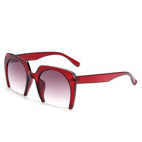 Fashion Chic Semi-Rimless Frame Sunglasses For Women