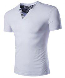 Slim Fit V-Neck Short Sleeve T-Shirt