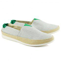Simple Colour Block and Elastic Design Canvas Shoes For Men