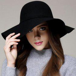 Fashionable Simple Design Solid Color Knotted Church Hat For Women -
