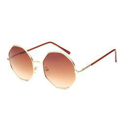 Chic Golden Polygonal Frame Sunglasses For Women -